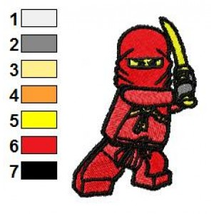 Lego Ninjago Embroidery Design