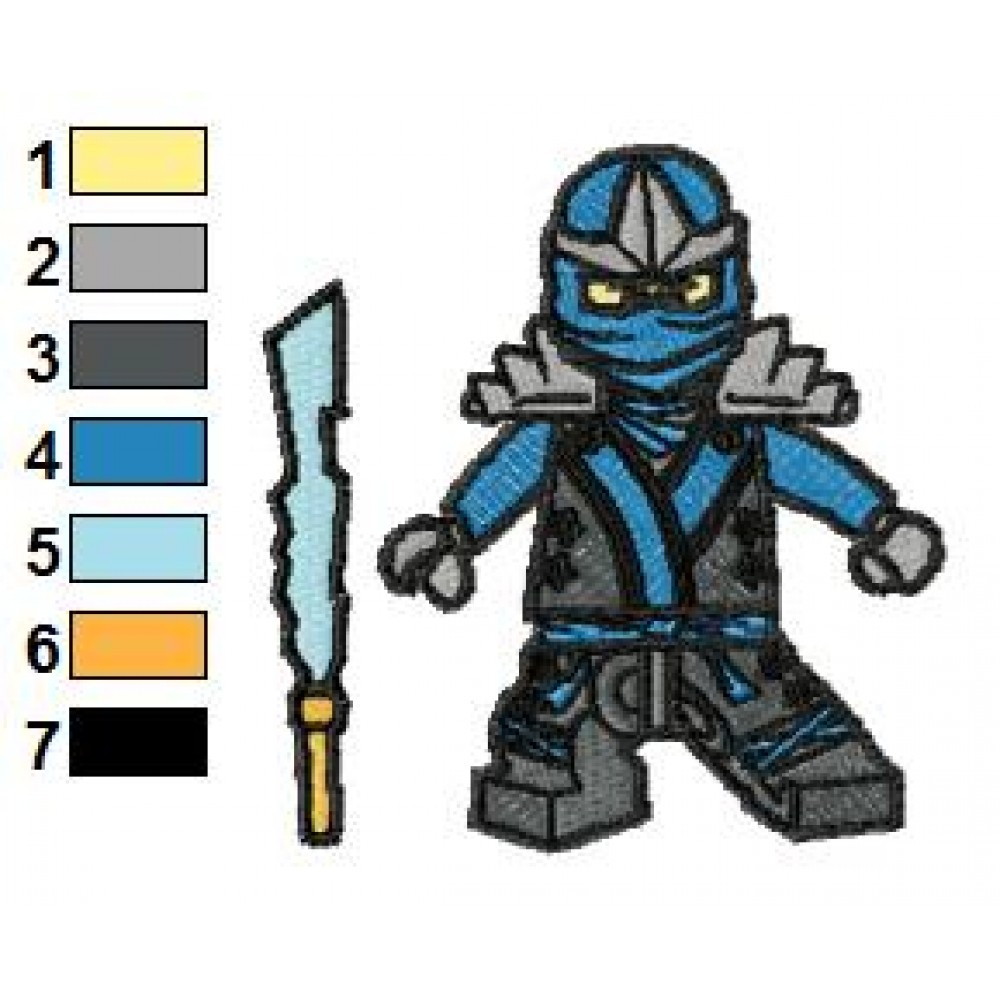 lego ninjago jay kx embroidery design