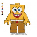 Lego Sponge Bob 03 Embroidery Design
