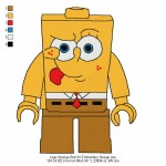 Lego Sponge Bob 04 Embroidery Design