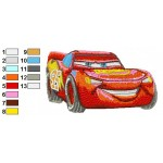 Lightning Mcqueen Cars Embroidery Design