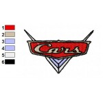 Logo of Disney Cars Embroidery Design