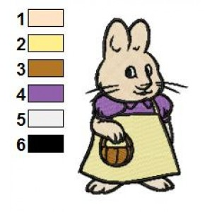 Max and Ruby 02 Embroidery Design