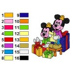 Mickey Mouse Family in Christmas Day Embroidery Design