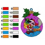 Mickey Mouse as Santa Claus Embroidery Design