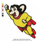Mighty Mouse 02 Embroidery Design