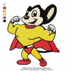 Mighty Mouse 03 Embroidery Design