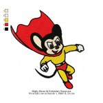 Mighty Mouse 04 Embroidery Design