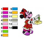 Minnie Mouse Candy Christmas Embroidery Design