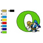 O Donald Duck Disney Baby Alphabet Embroidery Design