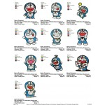 Package 10 Doraemon 01 Embroidery Designs