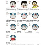 Package 10 Doraemon 02 Embroidery Designs