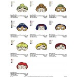 Package 10 Masks Princesses Embroidery Designs