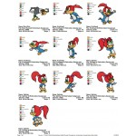 Package 10 Woody Woodpecker 03 Embroidery Designs