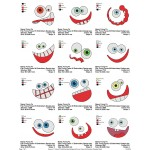 Package 12 Funny Faces Embroidery Designs