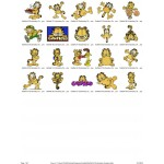 Package 20 Garfield 03 Embroidery Designs