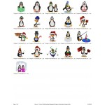 Package 21 Penguins Embroidery Designs