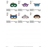 Package 6 Masks Dora the Explorer Embroidery Designs