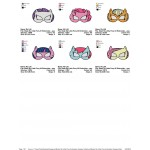 Package 6 Masks My Little Pony Embroidery Designs