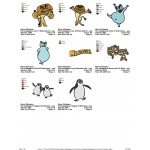 Package 8 Madagascar Embroidery Designs