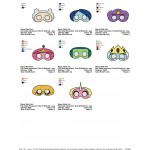 Package 8 Masks Adventure Time Embroidery Designs