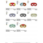 Package 8 Masks Super Hero Party Embroidery Designs