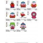 Package 8 South park Embroidery Designs