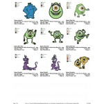 Package 9 Monsters inc 02 Embroidery Designs
