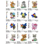 Package Animals Baby Embroidery Designs 01