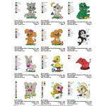 Package Animals Baby Embroidery Designs 02