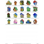 Package Bird House Embroidery Designs