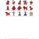 Package Clifford the Big Red Dog Embroidery Designs