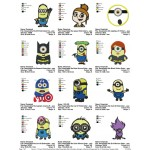 Package Despicable Me Embroidery Designs 01