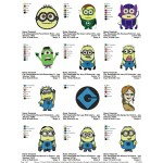 Package Despicable Me Embroidery Designs 02