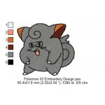 Pokemon 03 Embroidery Design