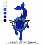 Pokemon 04 Embroidery Design