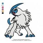 Pokemon Absol Embroidery Design