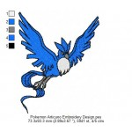 Pokemon Articuno Embroidery Design