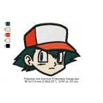 Pokemon Ash Ketchum Embroidery Design