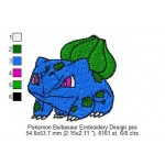 Pokemon Bulbasaur Embroidery Design