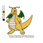 Pokemon Dragonite 01 Embroidery Design