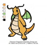 Pokemon Dragonite Embroidery Design