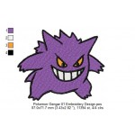 Pokemon Gengar 01 Embroidery Design