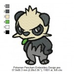 Pokemon Pancham Embroidery Design