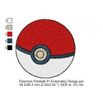 Pokemon Pokeball 01 Embroidery Design