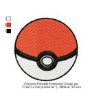 Pokemon Pokeball Embroidery Design