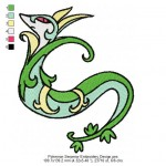 Pokemon Serperior Embroidery Design