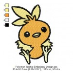 Pokemon Torchic Embroidery Design