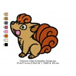 Pokemon Vulpix Embroidery Design