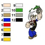 Popeye 02 Embroidery Design